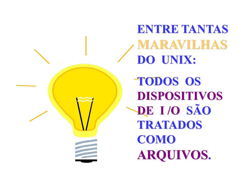 ENTRE TANTAS MARAVILHAS DO UNIX: