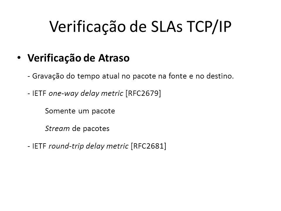 Verificação de SLAs TCP/IP