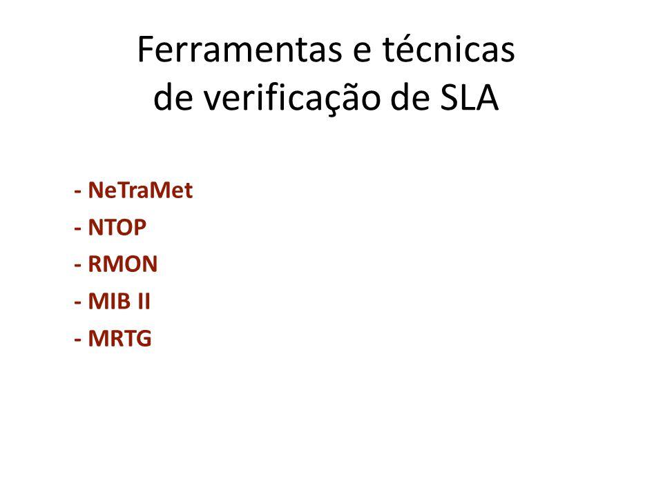 Ferramentas e técnicas de verificação de SLA