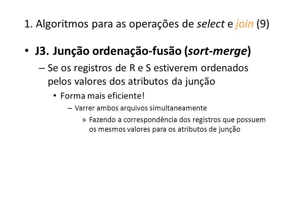 1. Algoritmos para as operações de select e join (9)