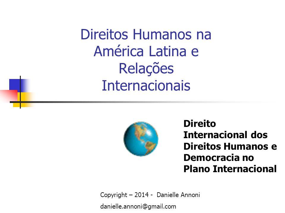 Direitos Humanos na América Latina e Relações Internacionais