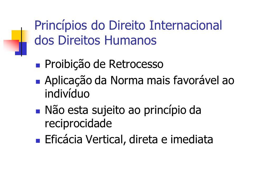 Princípios do Direito Internacional dos Direitos Humanos