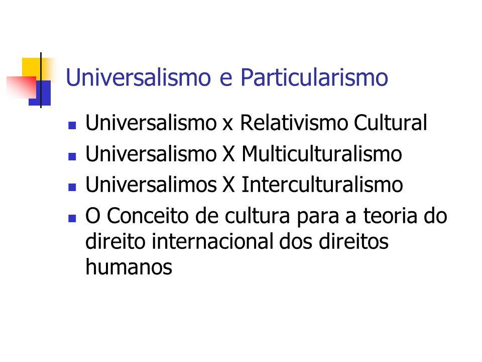 Universalismo e Particularismo