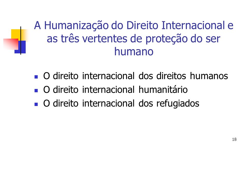 A Humanização do Direito Internacional e as três vertentes de proteção do ser humano