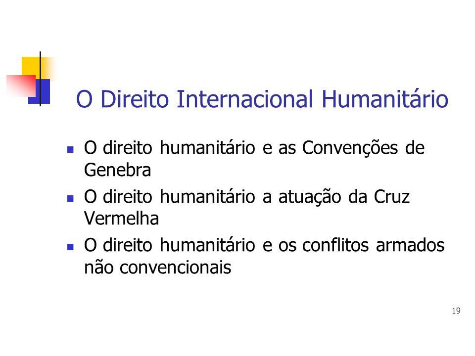 O Direito Internacional Humanitário