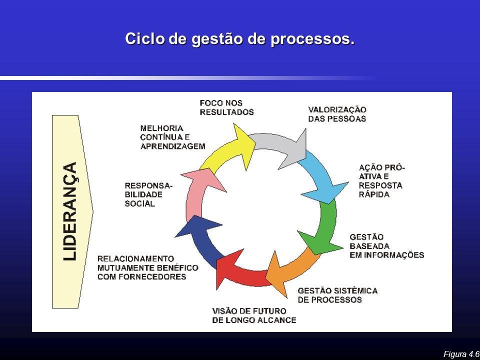 Ciclo de gestão de processos.