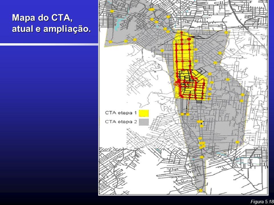 Mapa do CTA, atual e ampliação.