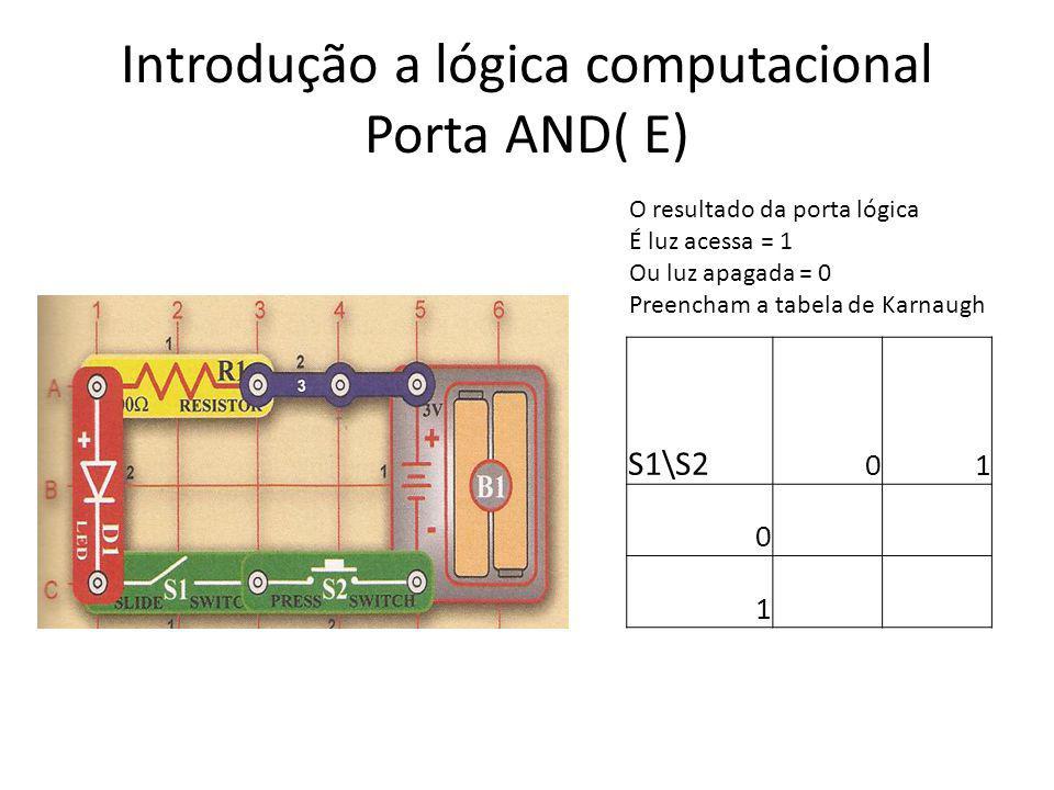 Introdução a lógica computacional Porta AND( E)