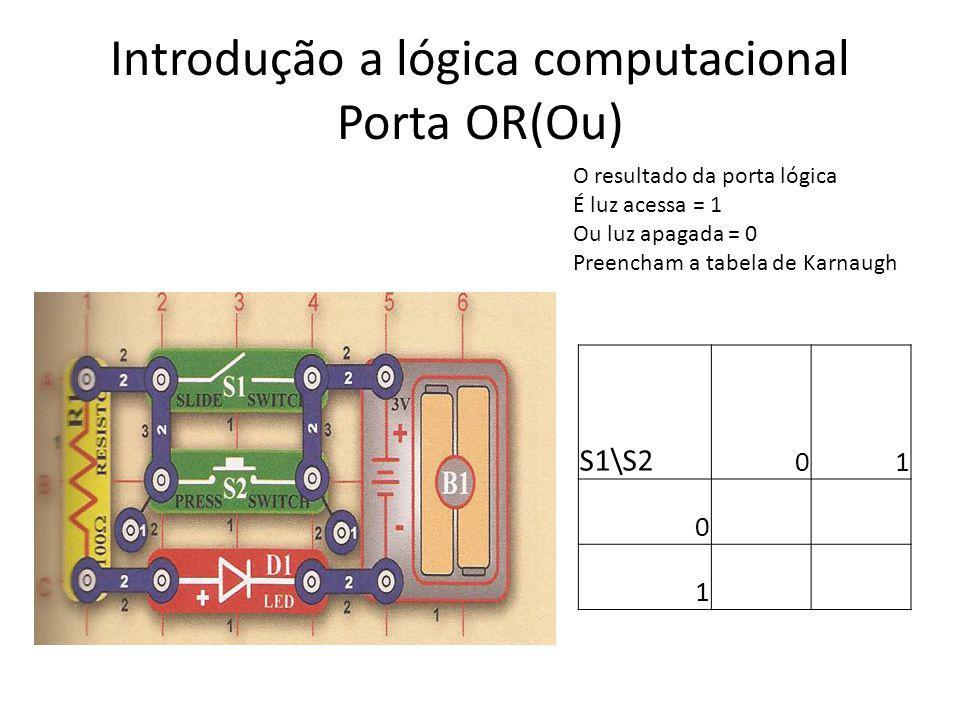 Introdução a lógica computacional Porta OR(Ou)