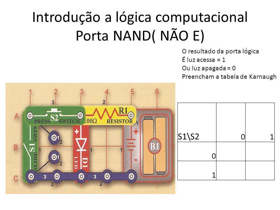 Introdução a lógica computacional Porta NAND( NÃO E)