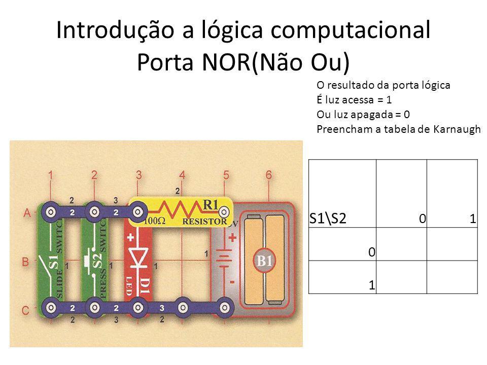 Introdução a lógica computacional Porta NOR(Não Ou)