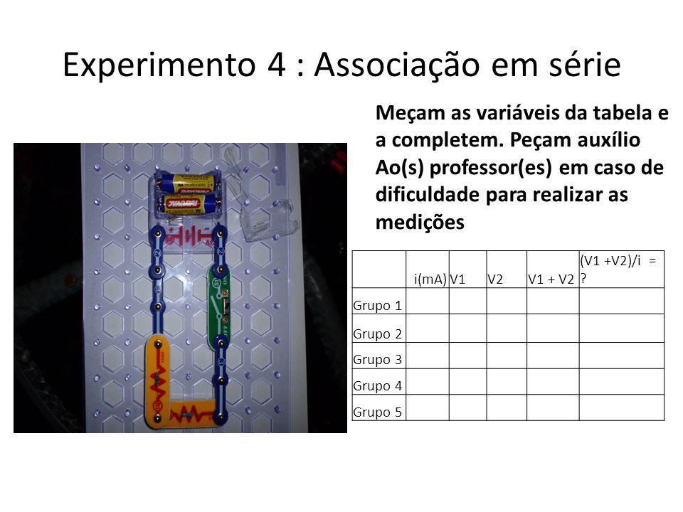 Experimento 4 : Associação em série