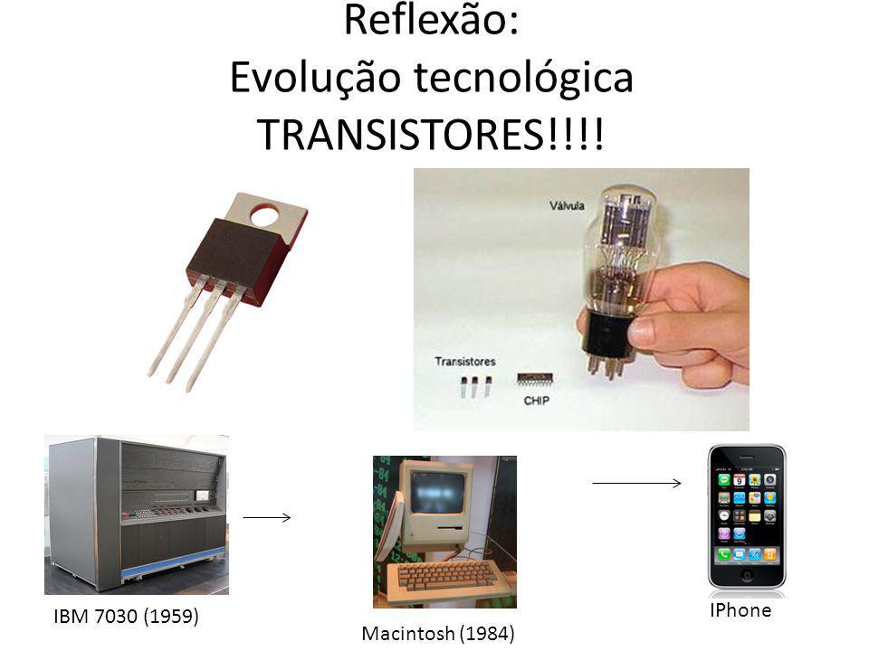 Reflexão: Evolução tecnológica TRANSISTORES!!!!