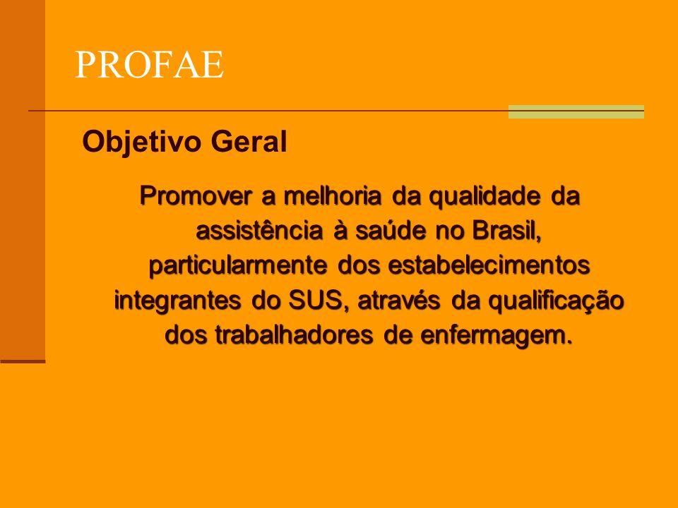 PROFAE Objetivo Geral.