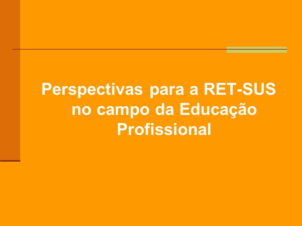 Perspectivas para a RET-SUS no campo da Educação Profissional