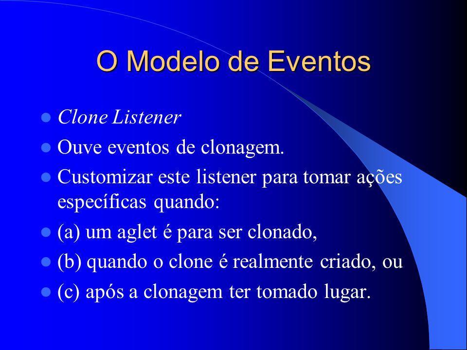 O Modelo de Eventos Clone Listener Ouve eventos de clonagem.