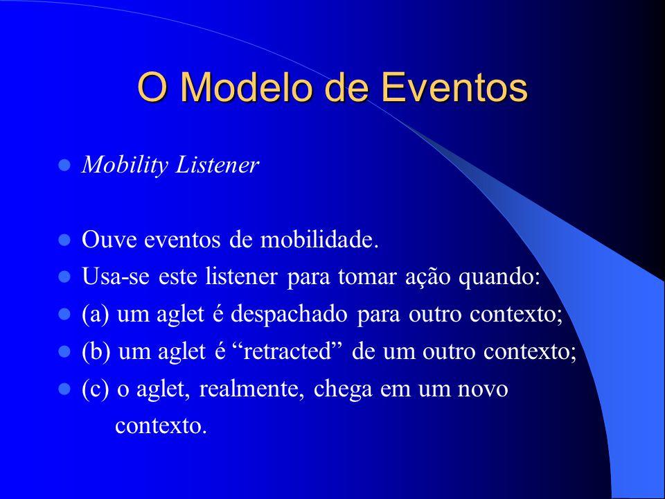 O Modelo de Eventos Mobility Listener Ouve eventos de mobilidade.