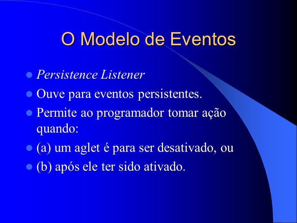 O Modelo de Eventos Persistence Listener