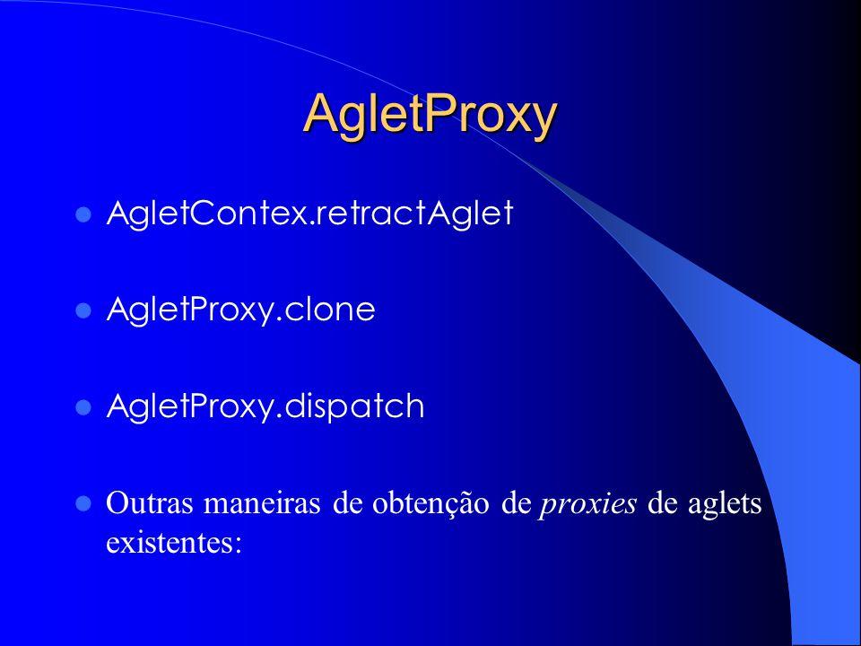 AgletProxy AgletContex.retractAglet AgletProxy.clone