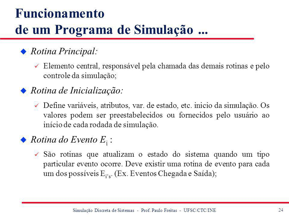 Funcionamento de um Programa de Simulação ...