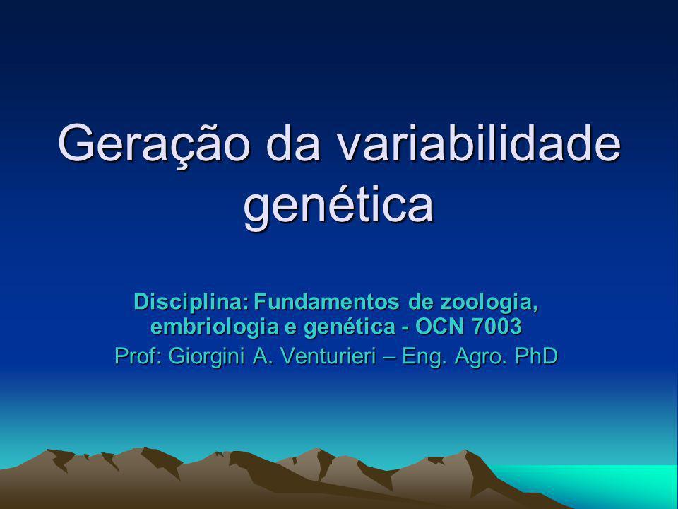 Geração da variabilidade genética