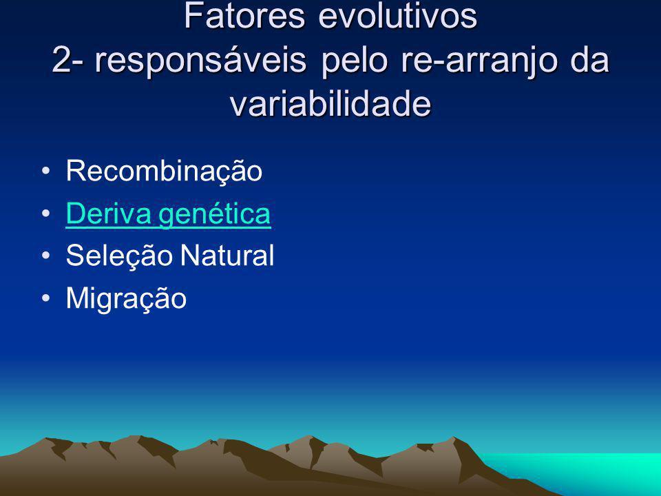 Fatores evolutivos 2- responsáveis pelo re-arranjo da variabilidade