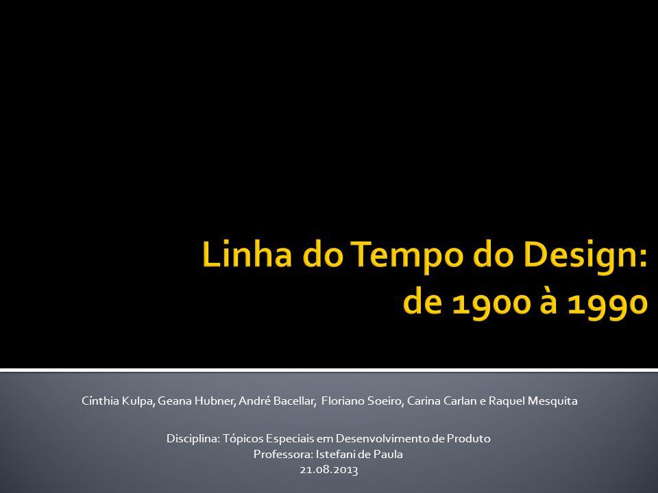 Linha do Tempo do Design: de 1900 à 1990