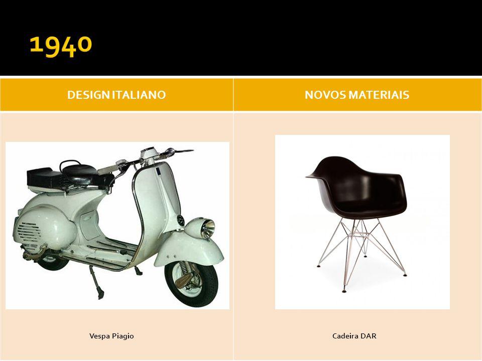 1940 DESIGN ITALIANO NOVOS MATERIAIS Vespa Piagio Cadeira DAR
