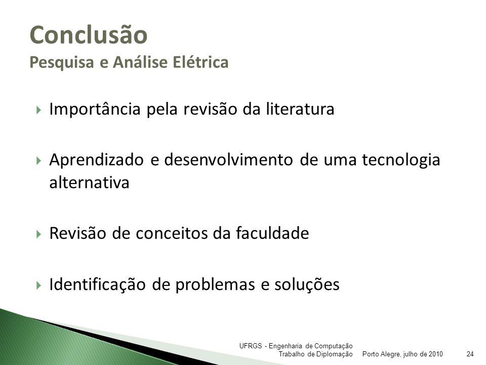 Conclusão Pesquisa e Análise Elétrica