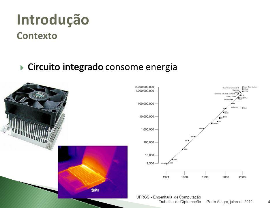 Introdução Contexto Circuito integrado consome energia