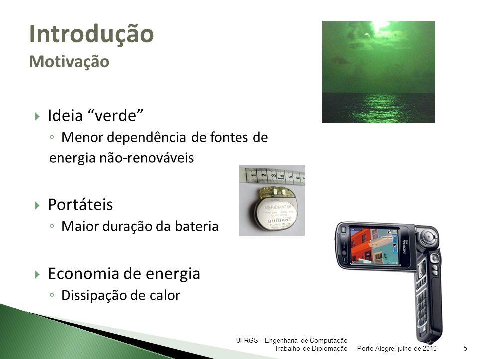 Introdução Motivação Ideia verde Portáteis Economia de energia