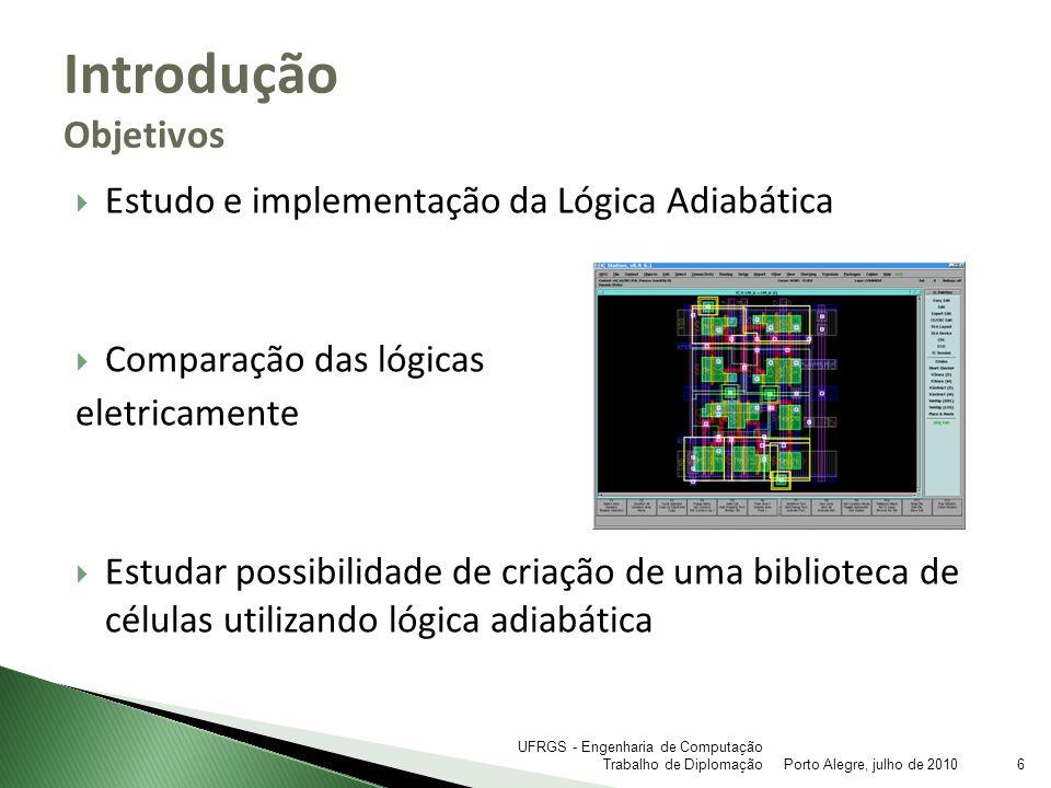 Introdução Objetivos Estudo e implementação da Lógica Adiabática
