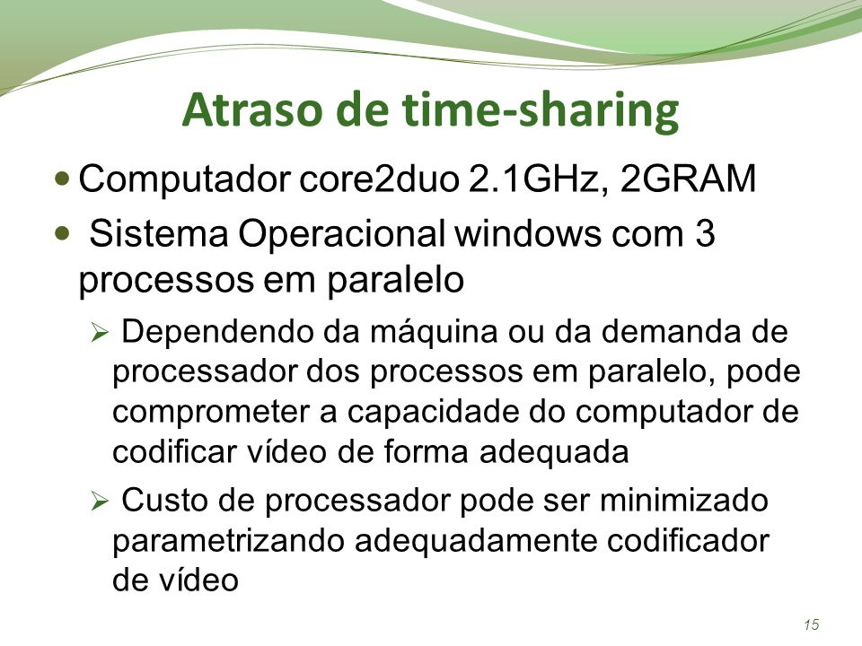 Atraso de time-sharing