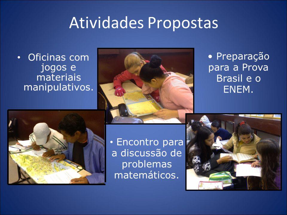 Atividades Propostas Preparação para a Prova Brasil e o ENEM.