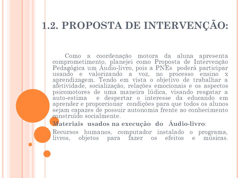 1.2. Proposta de Intervenção: