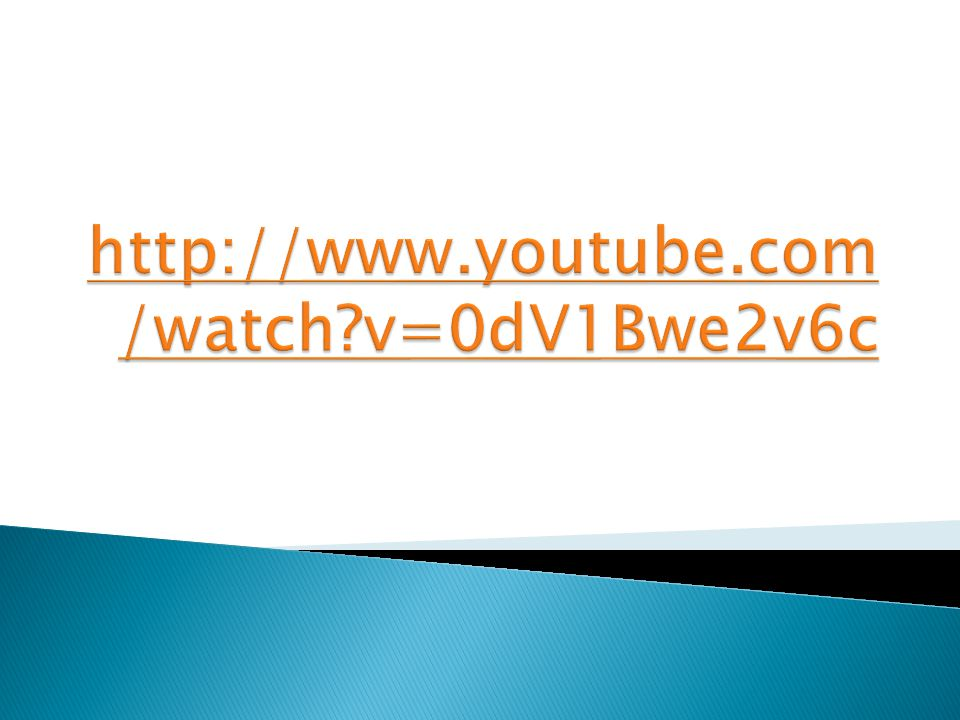 http://www.youtube.com/watch v=0dV1Bwe2v6c