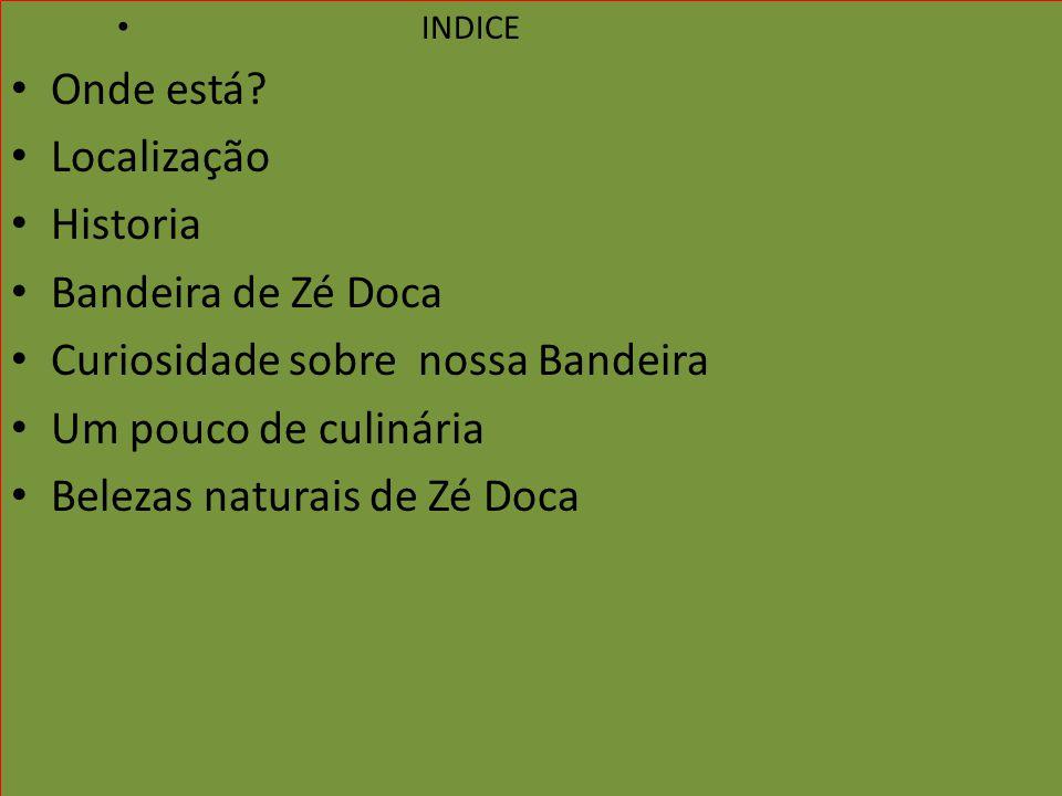 INDICE Onde está Localização Historia Bandeira de Zé Doca