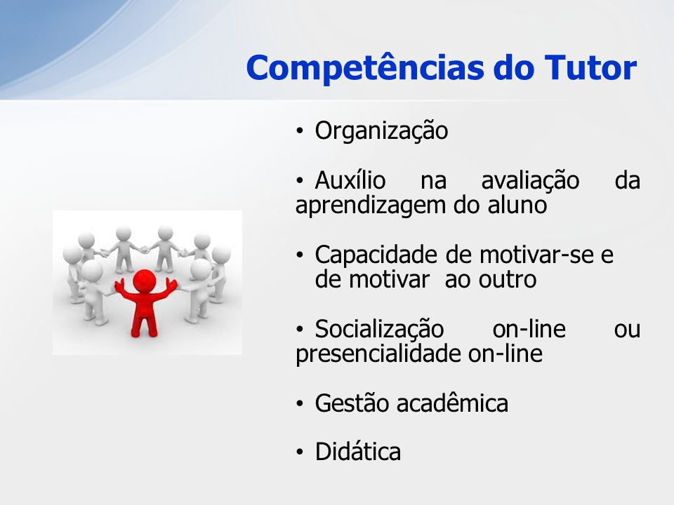 Competências do Tutor Organização