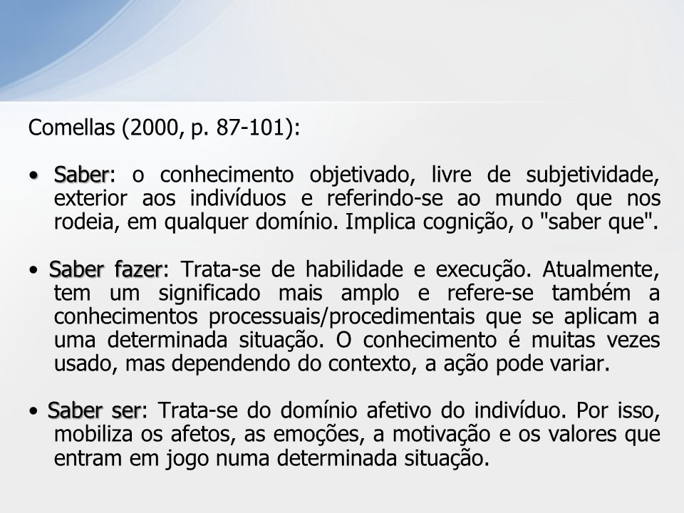 Comellas (2000, p. 87-101):
