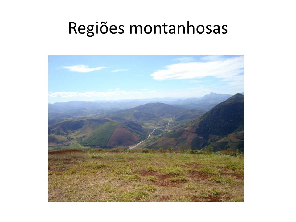 Regiões montanhosas Afoso cláudio é uma Região montanhosa