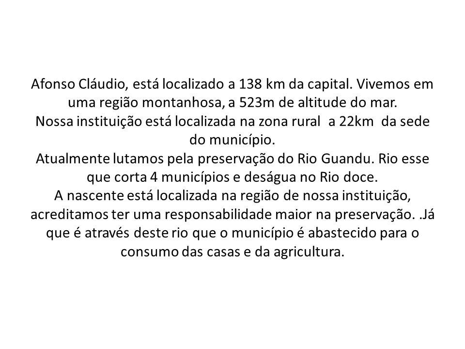 Afonso Cláudio, está localizado a 138 km da capital