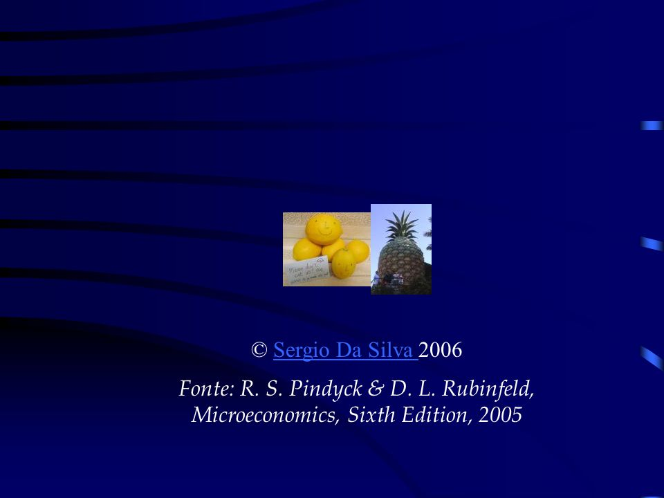 © Sergio Da Silva 2006 Fonte: R. S. Pindyck & D. L. Rubinfeld, Microeconomics, Sixth Edition, 2005