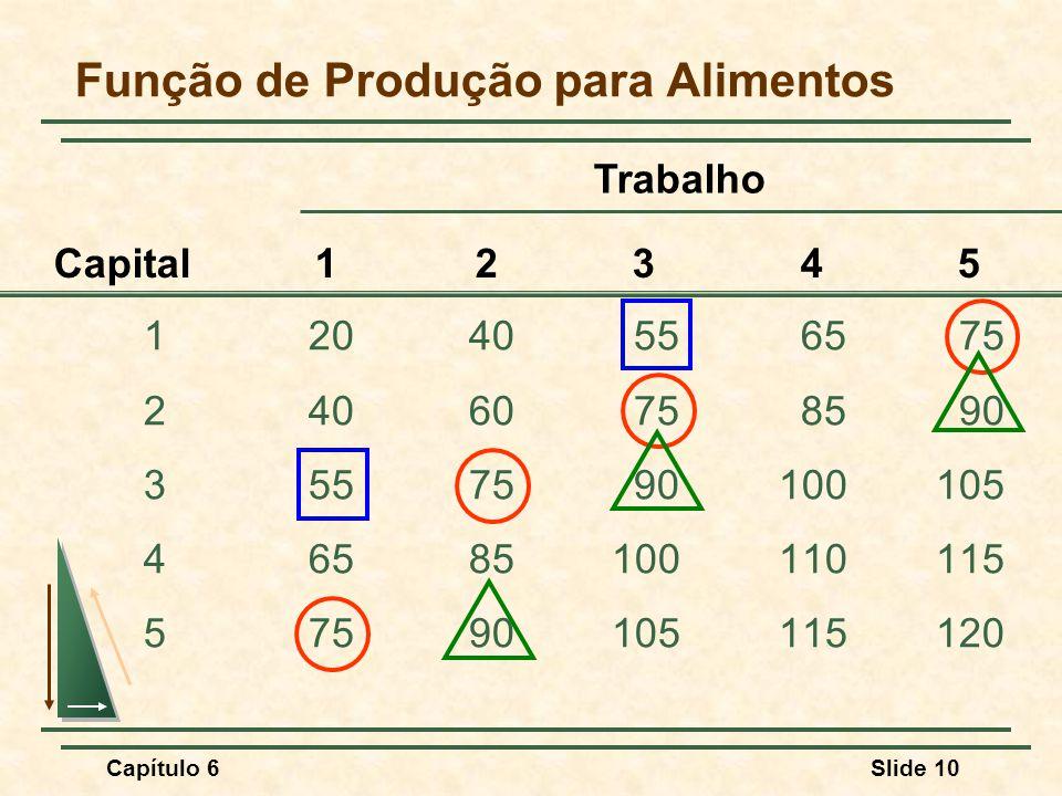 Função de Produção para Alimentos
