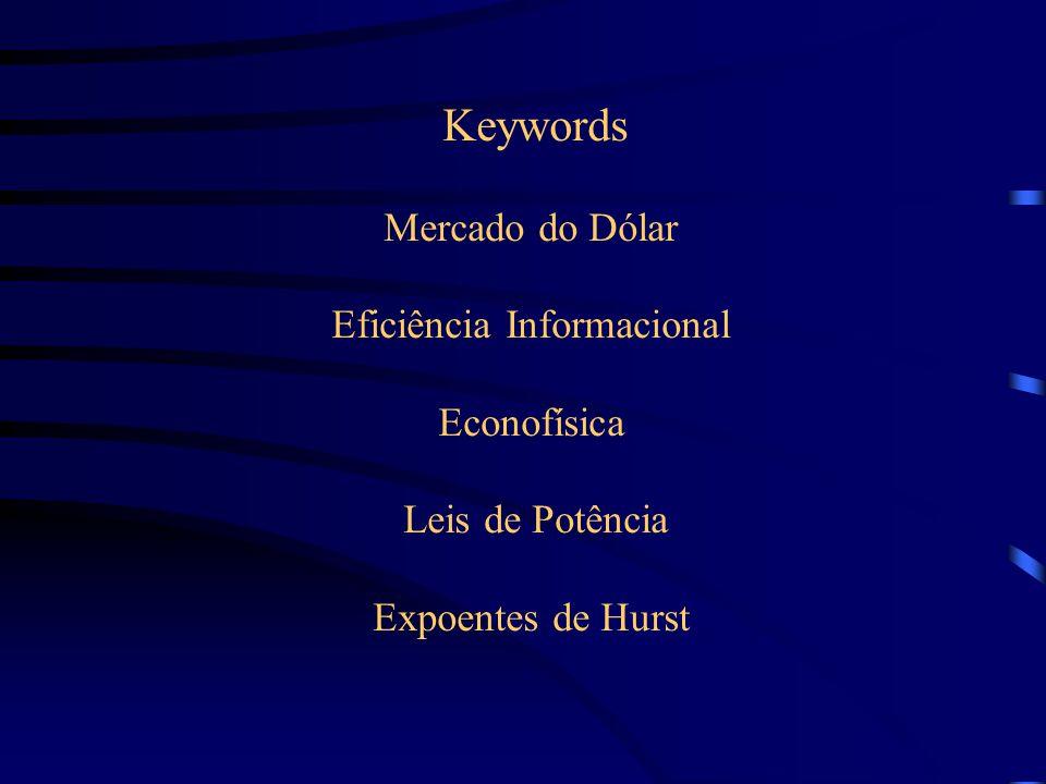 Keywords Mercado do Dólar Eficiência Informacional Econofísica Leis de Potência Expoentes de Hurst