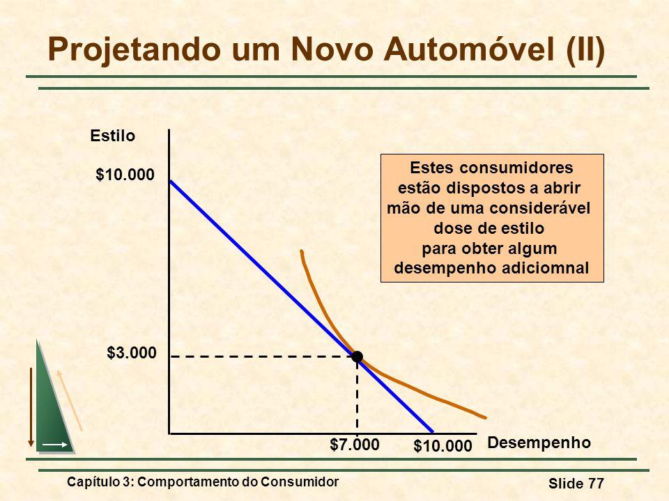 Projetando um Novo Automóvel (II)