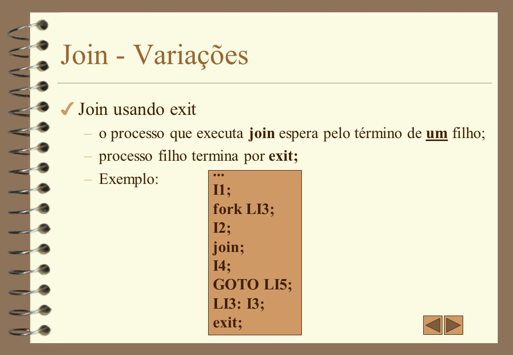Join - Variações Join usando exit