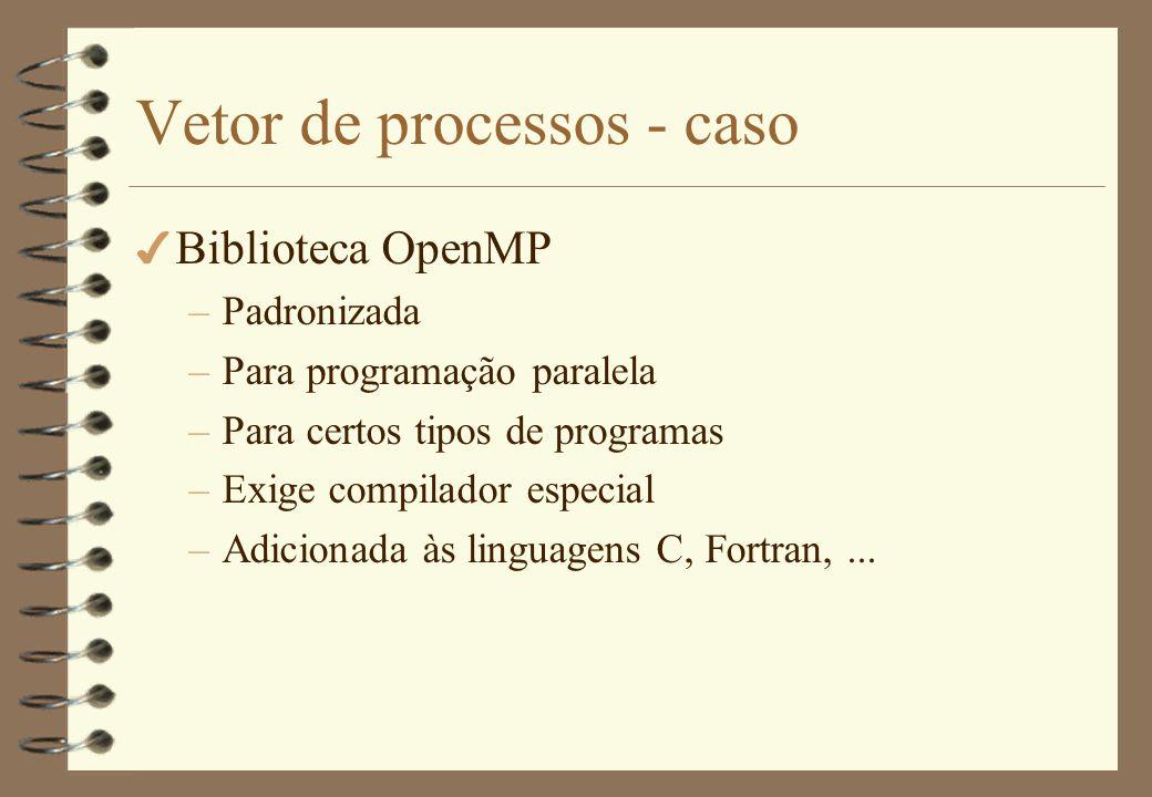 Vetor de processos - caso