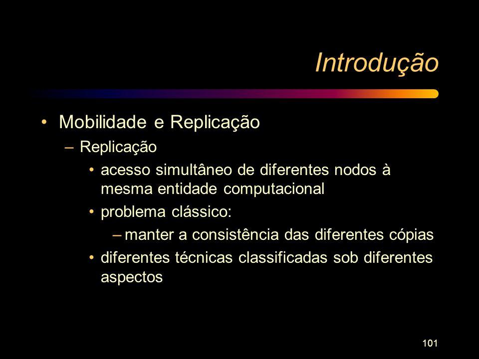 Introdução Mobilidade e Replicação Replicação