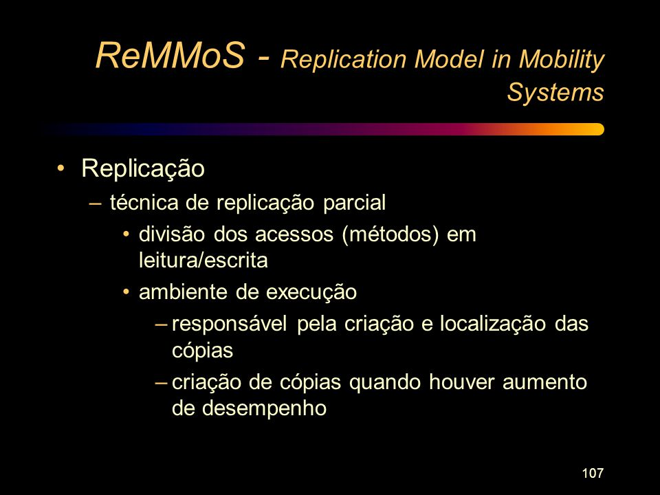 ReMMoS - Replication Model in Mobility Systems