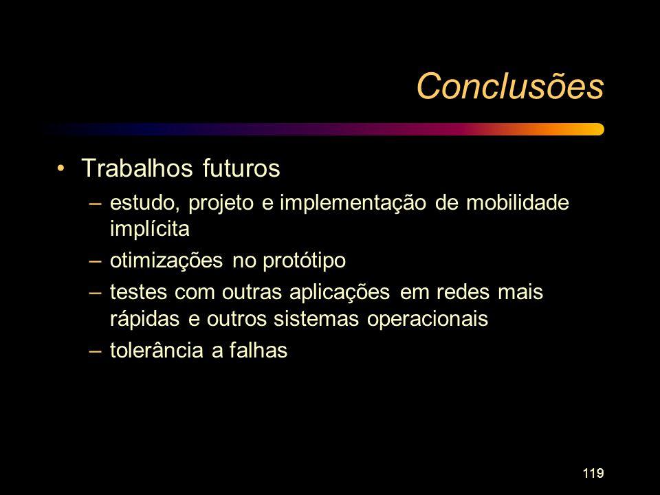 Conclusões Trabalhos futuros